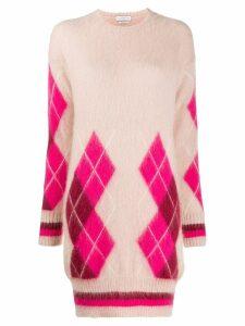 Ballantyne argyle knit dress - Pink
