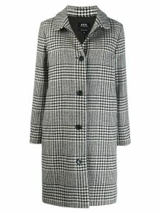 A.P.C. houndstooth patterned coat - Black