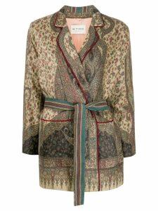 Etro paisley print blazer - Green