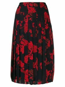 Tory Burch paisley pleated skirt - Black