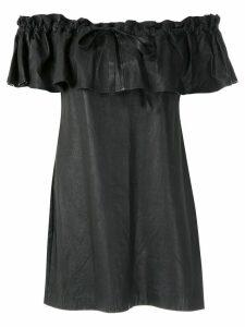 Andrea Bogosian ruffled leather dress - Black