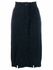 Maison Margiela Destroyed knit skirt - Blue