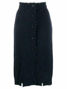 Maison Margiela Destroyed knit skirt - Blue