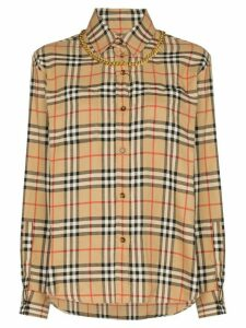 Burberry Vintage Check chain-embellished shirt - Brown