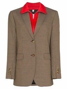 Burberry Houndstooth layered blazer - Brown