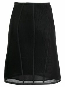 Fendi micromesh midi skirt - Black