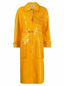 Fendi long trench coat - Orange