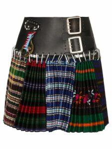 Chopova Lowena multi-print kilt skirt - Multicolour