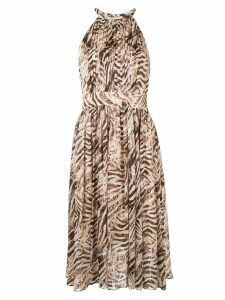 Elie Tahari Dominica animal print halter dress - Brown
