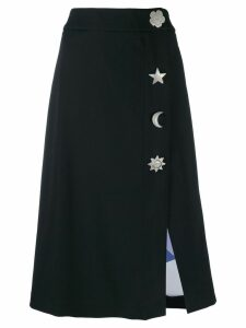 Emilio Pucci oversized button detailed skirt - Black
