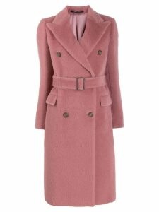 Tagliatore Jole double-breasted coat - PINK