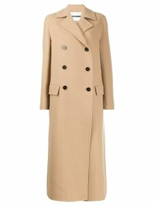 Jil Sander double breasted long coat - NEUTRALS