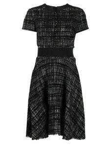 Paule Ka flared tweed dress - Black