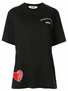 MSGM broken heart print T-shirt - Black