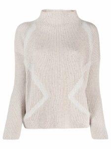 Lorena Antoniazzi roll neck sequinned sweater - Neutrals