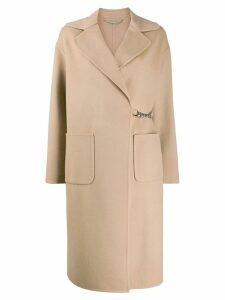 Ermanno Scervino chain fastened midi coat - NEUTRALS