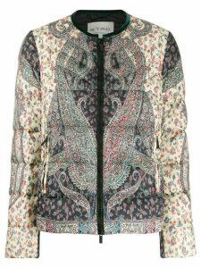 Etro parsley print padded jacket - Green