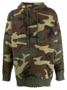 R13 camouflage hoodie - Green
