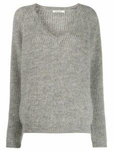 Mes Demoiselles v-neck jumper - Grey