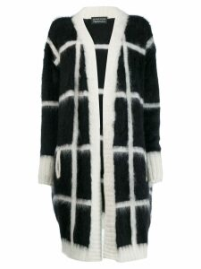 Gianluca Capannolo oversized check cardigan - Black
