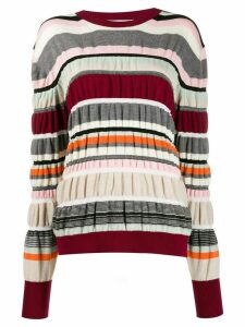 JW Anderson striped ruched jumper - Red