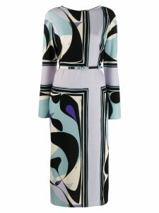 Emilio Pucci mid-length printed dress - Black
