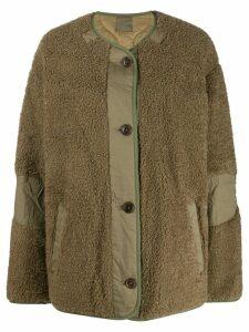 Isabel Marant Étoile oversized fleece textured jacket - Green