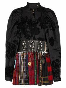 Chopova Lowena two-layer kilt dress - Black