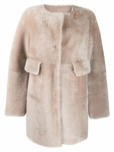 Desa 1972 patch pocket coat - Neutrals