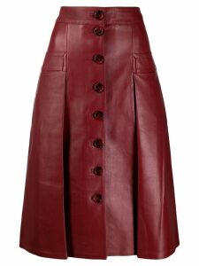 Dodo Bar Or leather midi skirt - Red