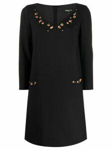 Paule Ka jewelled mini dress - Black