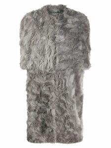 Stella McCartney Fur Free Fur shaggy coat - Grey