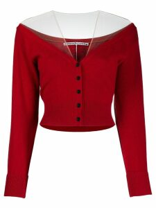 Alexander Wang wool blend cardigan - Red
