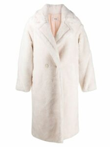 Yves Salomon Meteo textured double-breasted coat - Neutrals