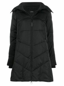 Pinko quilted parka coat - Black