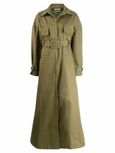 Jacquemus Arles oversized trench - Green
