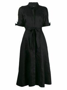 Equipment waist-tied flared midi dress - Black
