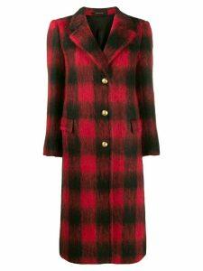 Tagliatore straight fit check coat - Black