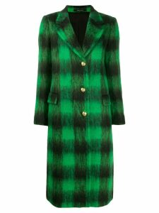 Tagliatore long checked coat - Black