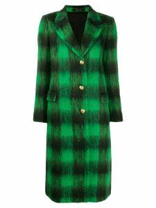 Tagliatore long checked coat - Black