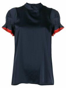 Victoria Victoria Beckham ruched blouse - Blue