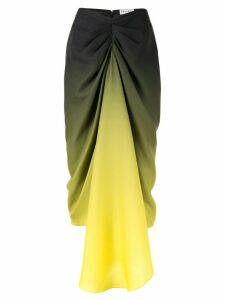 Halpern colour block ruched skirt - Green