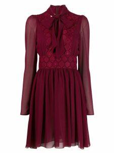 Giamba pussybow tie dress - Red