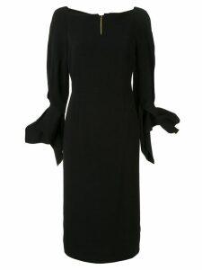 Roland Mouret Rosslare ruffled-cuff dress - Black