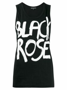 Ann Demeulemeester graphic print tank top - Black