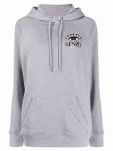 Kenzo Cupid eye motif hoodie - Grey