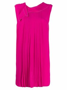 Marni pleated long-line blouse - Pink