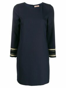 Twin-Set crew neck shift dress - Blue