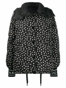 Dolce & Gabbana reversible polka dot puffer jacket - Black