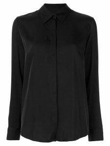 The Row Petah satin shirt - Black